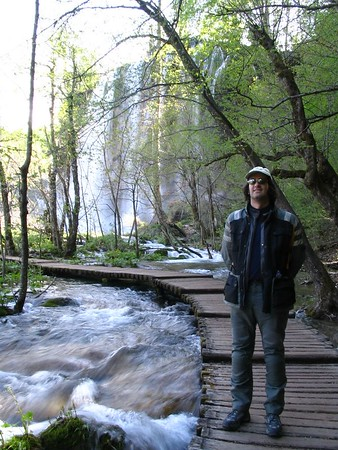 Dave on boardwalk next to high waterfall.jpg
