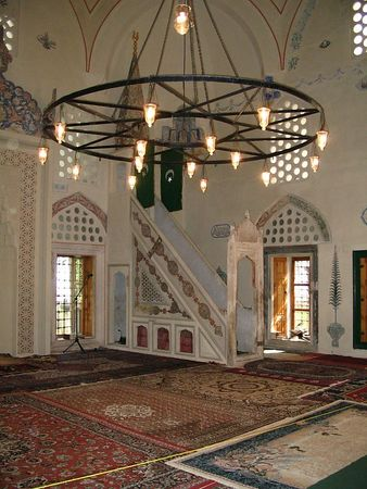 Interior of Karadzoz-Bey Mosque.jpg