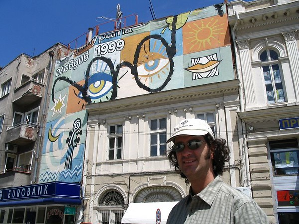 Dave on pedestrian mall in Plovdiv.jpg