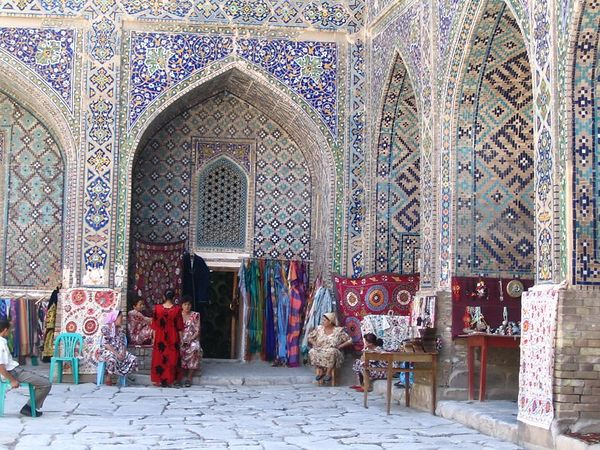 souvenir shops inside Registan