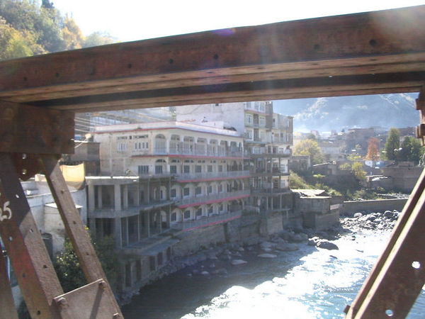 view of hotel from bridge