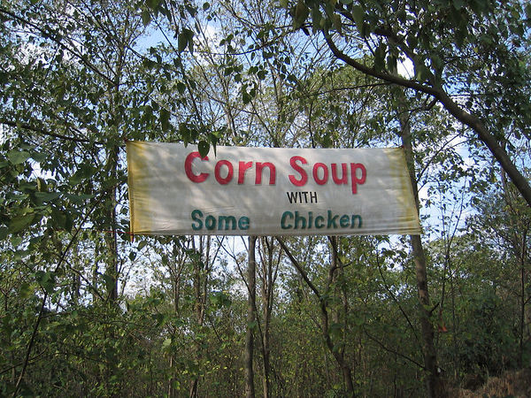 corn soup with some chicken