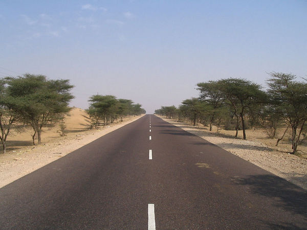 road to Bikaner