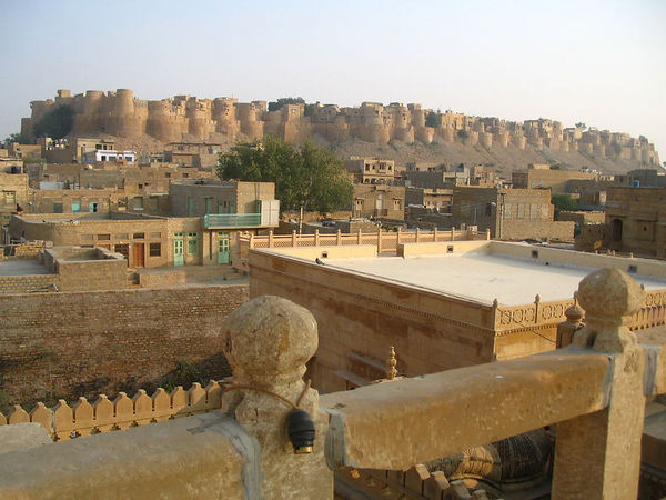 view from rooftop of Jaisalmer fort