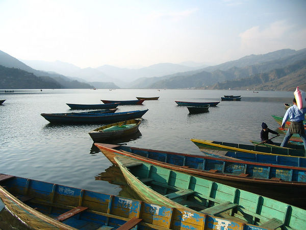 quiet Pokhara lakeside