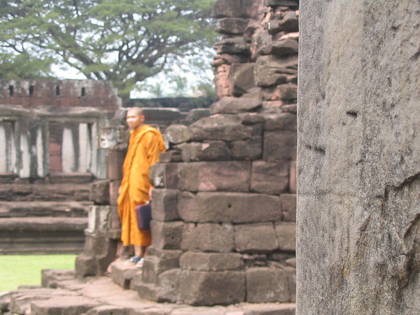 monk at Phimai