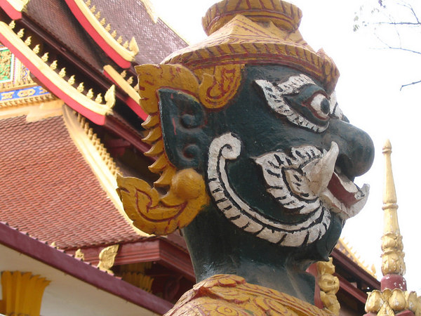 Vientiane temple guardian