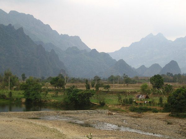 scenery outside Vang Vieng