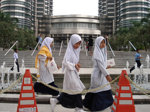 school girls, Petronas shopping complex