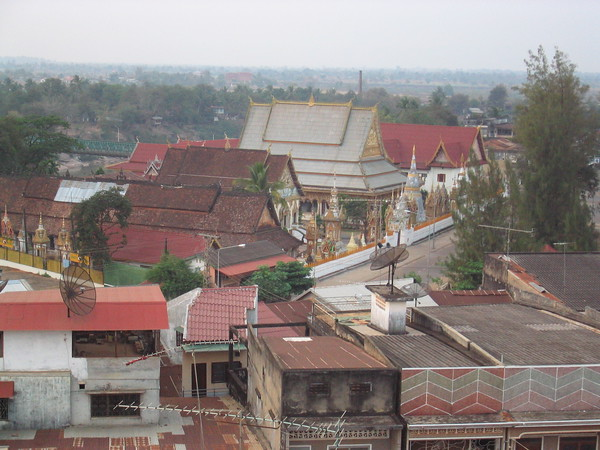 view from Pakse Hotel
